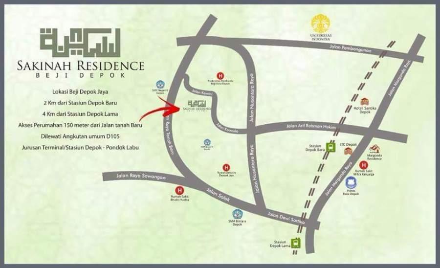 Lokasi Sakinah Residence