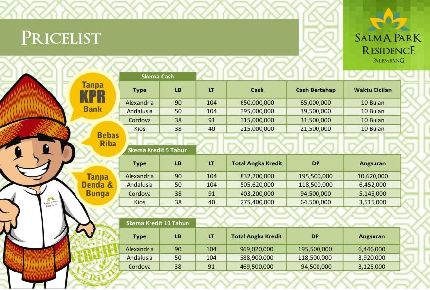 Pricelist Salma Park Palembang