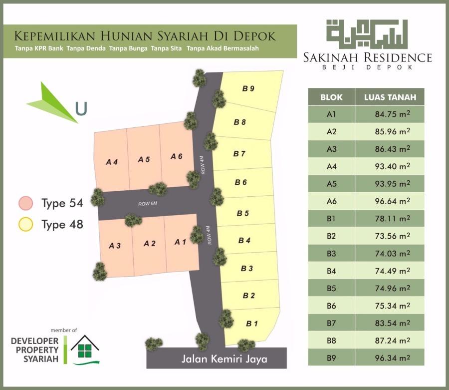 Siteplan Sakinah Residence