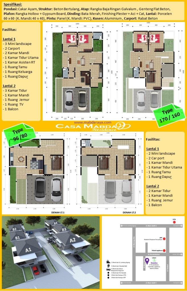 Casa Mabda Residence - Spesifikasi