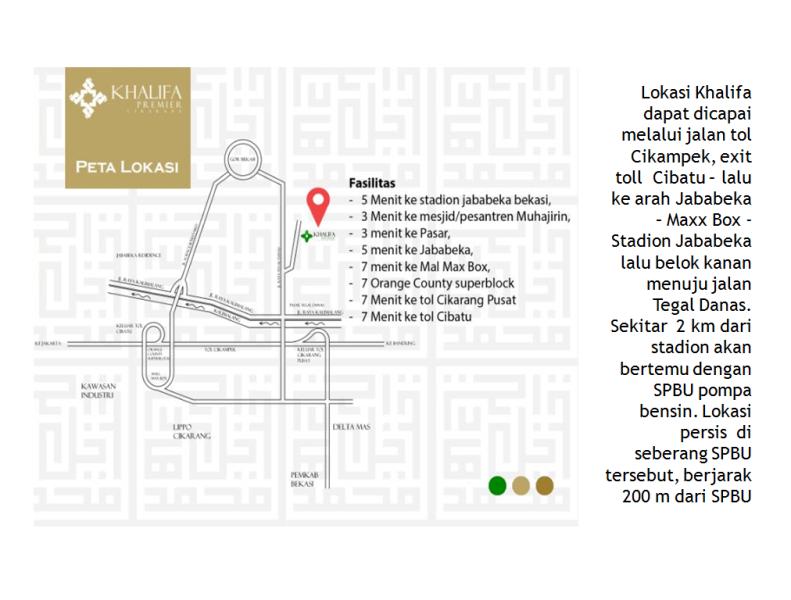 Peta Lokasi Khalifa Premier Cikarang