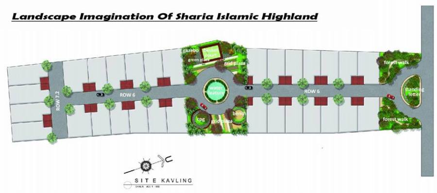 Siteplan Sharia Islamic Highland - Lembang