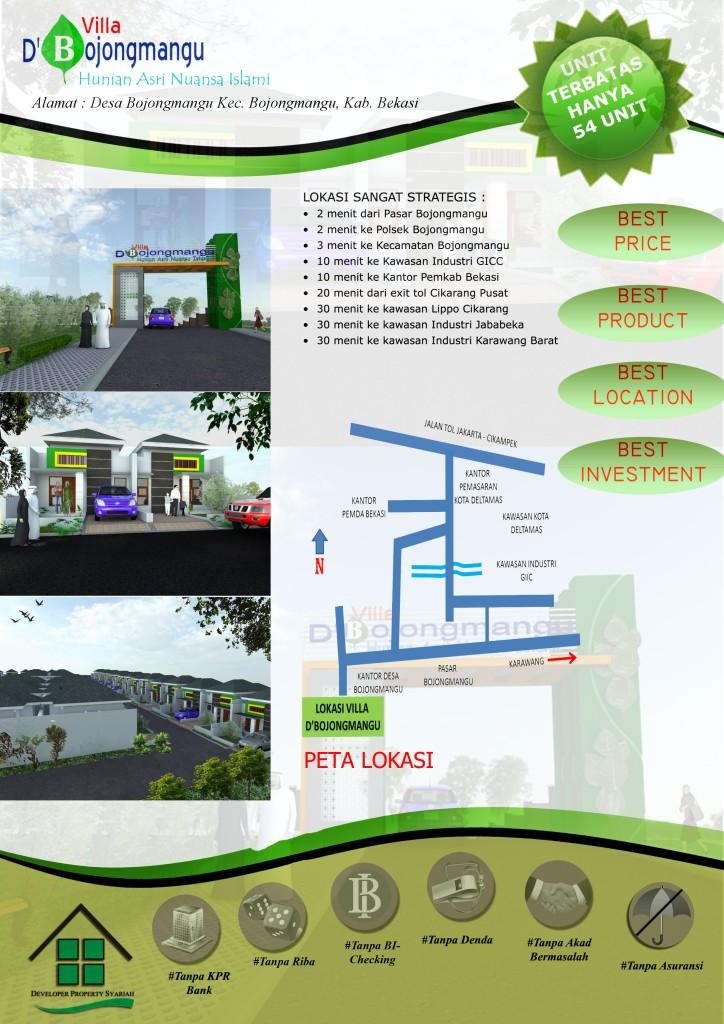 Brosur Villa D'Bojongmangu - Bekasi