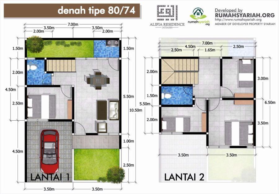 Denah Alifia Residence Jatiasih