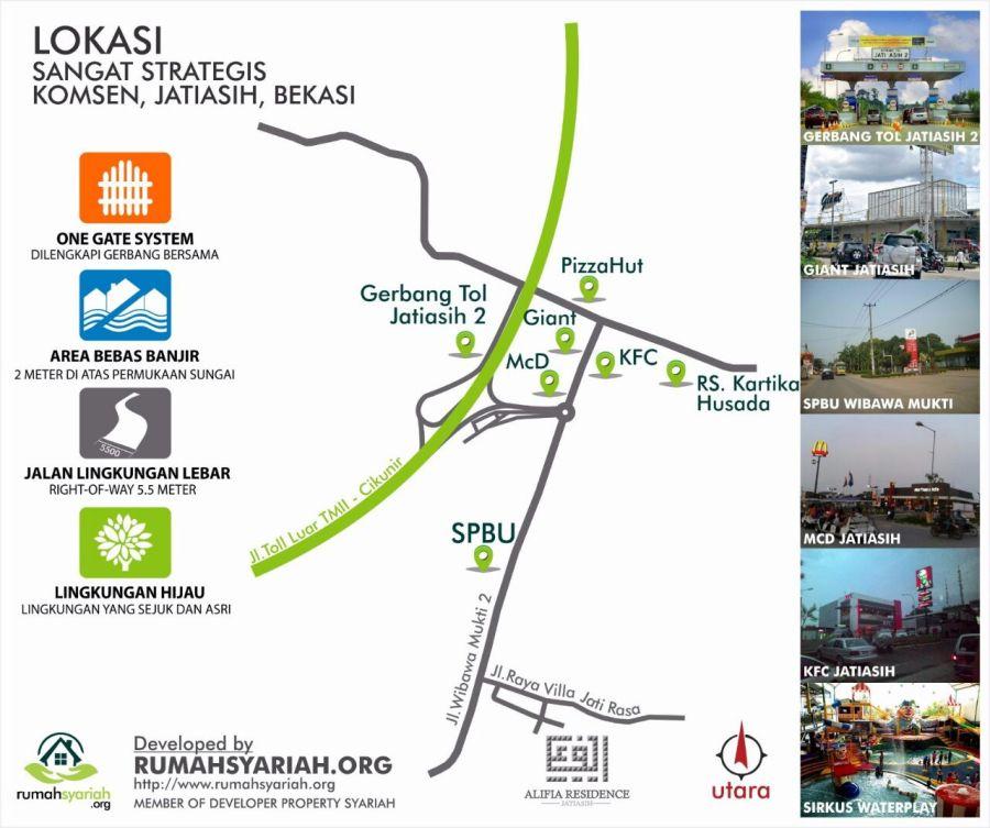Lokasi Alifia Residence Jatiasih