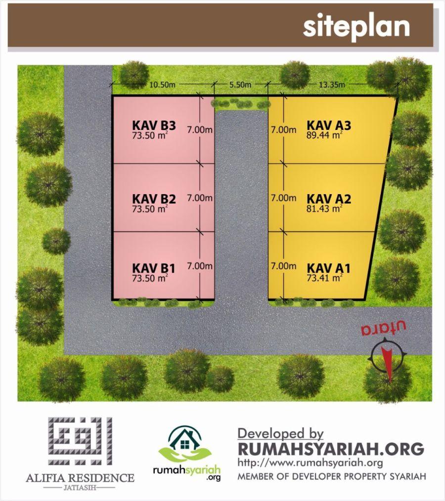 Siteplan Alifia Residence Jatiasih