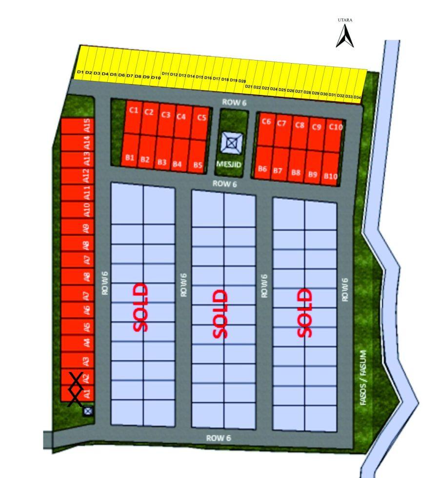 Siteplan Villa D'Bojongmangu - Bekasi