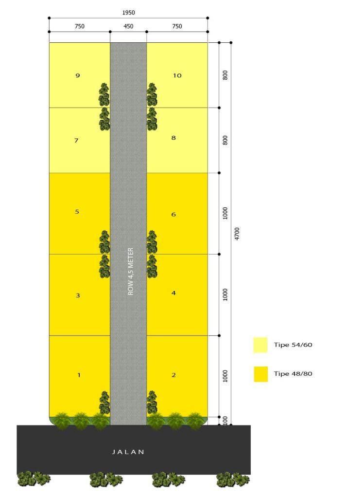 Kresyar Residence Cimahpar Bogor - Siteplan