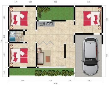 Rumah Tipe 48 - Kresyar Residence Cimahpar Bogor