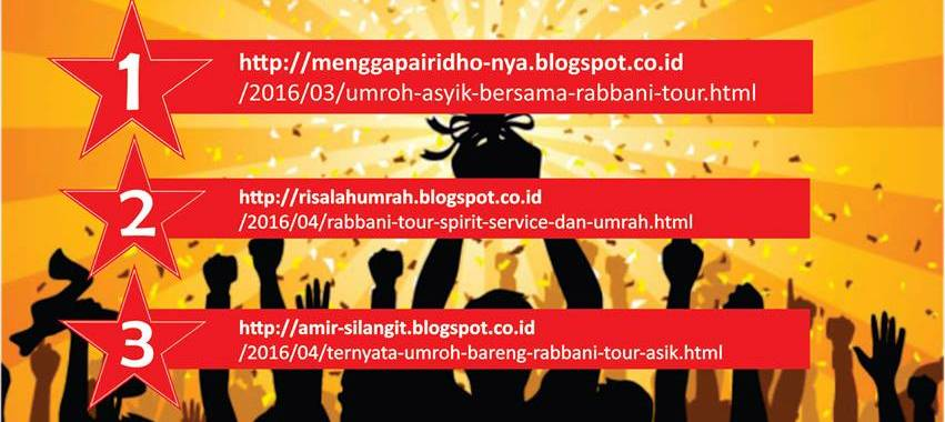 Rabbani Tour Blog Contest 2016