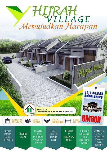 Brosur Hijrah Village - Sleman Yogyakarta