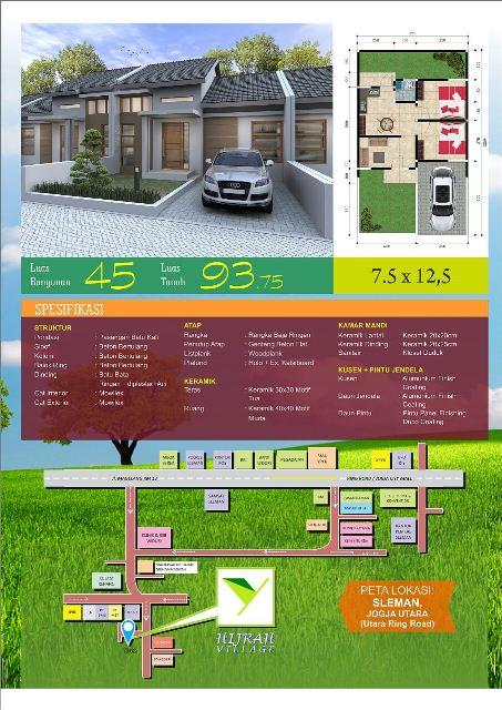 Spesifikasi dan Denah Hijrah Village - Sleman Yogyakarta