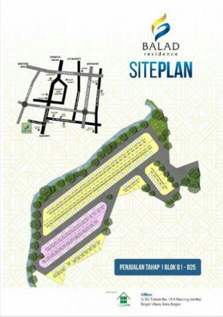 Siteplan Balad Residence Bojongsari Depok