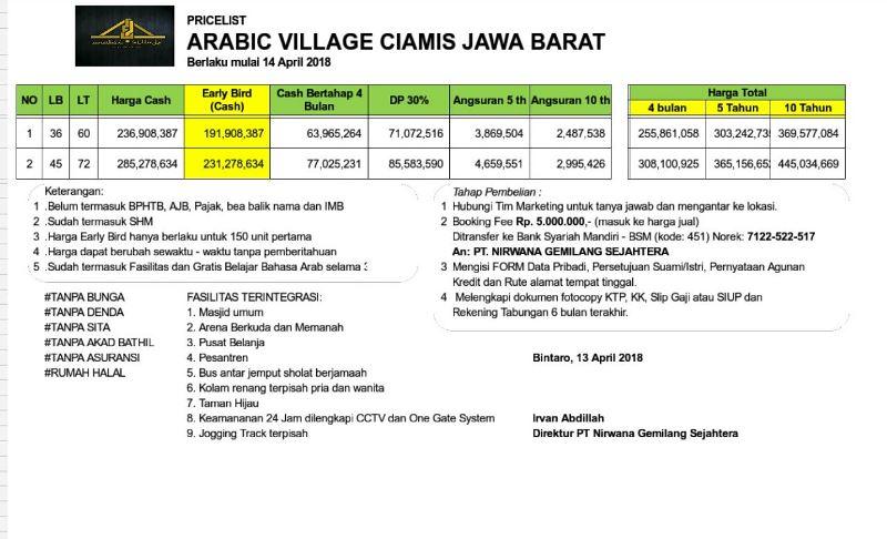 Arabic Village Ciamis