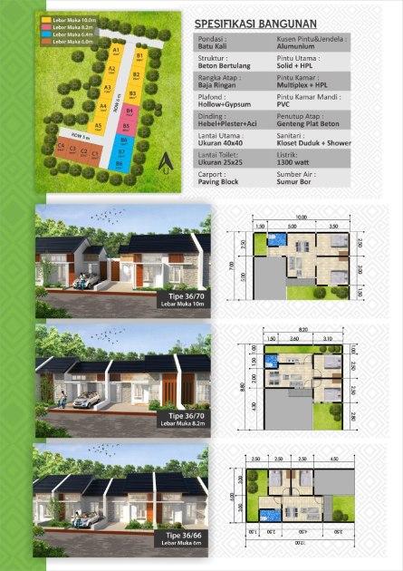 brosur spesifikasi alifia residence 2