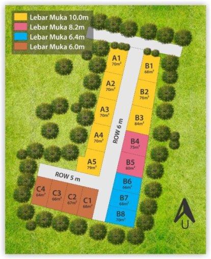 siteplan alifia residence 2 jatiasih