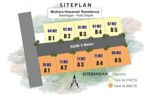 Mutiara Hasanah Residence - Siteplan